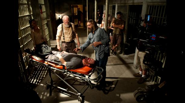 The Walking Dead bag om kameraet